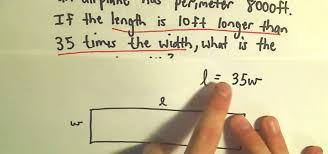 how to solve a word problem for the perimeter of a rectangle math wonderhowto