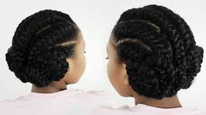 Black Braided Bun Hairstyles Goddess Braids Pinwheel Bun Under Braid Hairstyles For Black