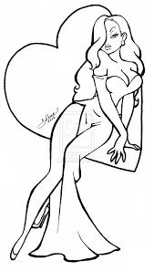 Jessica Rabbit Coloring Pages Love Pinterest