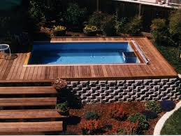 backyard with pool design ideas. Above Ground Endless Pool Backyard With Design Ideas