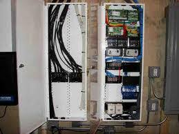advanced home controls whole house structured wiring a structured wiring enclosure an easy plug and play design will bring custom hidden wire management of home wiring systems right to your home