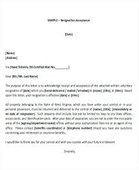 Letter Template Accepting Resignation Letter Template Accepting