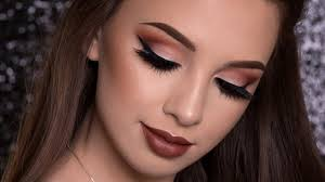warm brown makeup tutorial fall makeup look