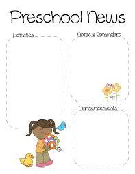 Preschool Newsletter Template Impressive Newsletter Template Pre K Hiyaablog