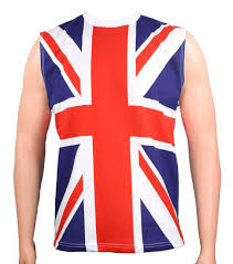 Mens British Union Jack Uk Flag Tank Top Metal Shirts