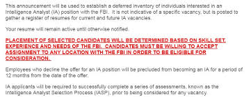 Do You Want To Work For The Fbi The Resume Place