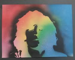 Stenciling Spray Paint A Stencil Spray Paint I Did Of Syd Barrett It Was Supposed To Be A