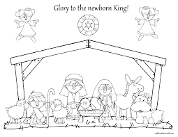 Nativity Coloring Pages For Kids With Nativity Coloring Pages
