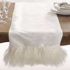 Furniture runners Table Linens Mongolian Lamb Fur Table Runner Overstock Buy Wool Table Runners Online At Overstockcom Our Best Table