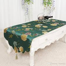 widen long chinese fabric coffee table runner with pocket simple decorative ethnic table cloth rectangular table cover 60 x 180 cm table runners for