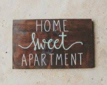 College Signs Decoration Home Sweet Apartment Wood Sign Apartment Decor College Student 2