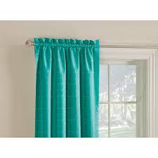 style selections gabby 84 in aqua polyester rod pocket room darkening single curtain panel