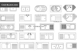 kitchen sink cad blocks autocad file