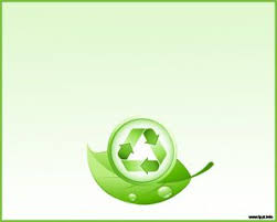 Free Green Recycle And Leaves Powerpoint Template Background