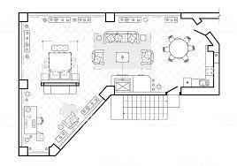 平面図平面図インテリア デザインのテラスコテージは屋根付きのベランダ