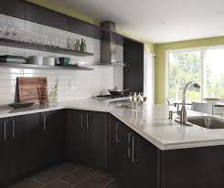 ... Dark gray kitchen cabinets by Kemper Cabinetry ...