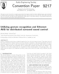 e library utilizing gesture recognition and ethernet avb for  e library utilizing gesture recognition and ethernet avb for distributed surround sound control