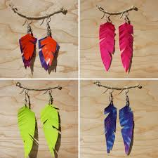 DIY Duct Tape Feather Earrings Tutorial 3