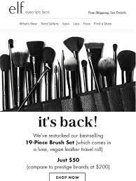 new elf brushes. new elf brushes l