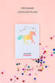 Free Greeting Card Printables Printable Unicorn Greeting Card Make And Tell