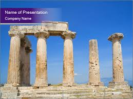 Greek Templates Antique Temple In Greece Powerpoint Template Backgrounds Google