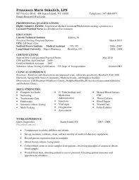 Lpn Resume Sample Gorgeous Resume For Med Surg Nurse Entry Level Lpn Resume Sample Nursing