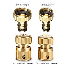 1 garden hose. Werleo Garden Hose Coupling Quick Connector Water Fitting Set 1/2 Inch GHT Metal 1