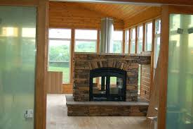 see through fireplace insert see through wood fireplace exposed flue fireplace insert electric heater