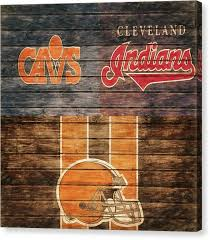 cleveland indians canvas print cleveland sports teams barn door by dan sproul on cleveland sports teams wall art with cleveland indians canvas prints fine art america