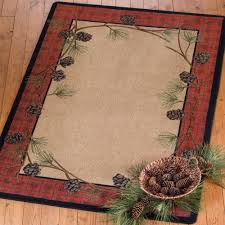 delicate pines rug 8 ft round