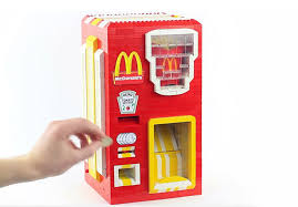 Mcdonalds Vending Machine Japan Magnificent LEGO McDonald's French Fries Vending Machine Makes The Happiest