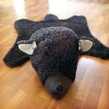 fake bear skin rug rustic nursery faux bearskin with head kid