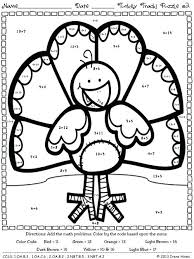 thanksgiving math coloring worksheets turkey pages