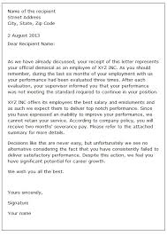 Sample Of A Termination Letter To An Employee Sample Dismissal Letter Scrumps