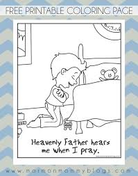 Small Picture He Hears Me When I Pray Free Coloring Page Mormon Mommy