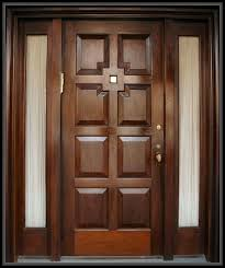 wooden front door design