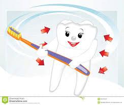 Dent De Sourire Avec La Brosse Dents Dessin Anim Illustration