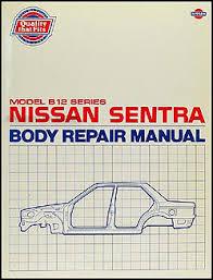 nissan sentra wiring diagram manual original 1987 1990 nissan sentra body repair shop manual original
