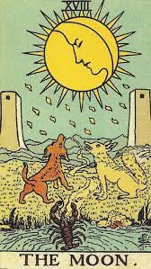 Through the moon's reflected light, you will find your way to the kernel of yourself. The Moon Tarot Card Meanings Mystical Bee