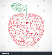 apple made of equations and formulas vector ilration