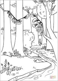 Small Picture A River In The Forest coloring page Free Printable Coloring Pages