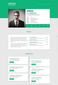 Personal Resume Website Personal Resume Templates Website 100 Best Html Resume Cv Vcard 14