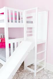 Bunk bed with stairs and slide Bedroom Of Our Beds With Stairs The Slide Does Not Add Any Additional Length So If You Were Considering Bunk Bed With Staircase The Poof Will Fit The Same Maxtrix Kids Add Slide To Your High Bunk Bed With The Poof Maxtrix Kids