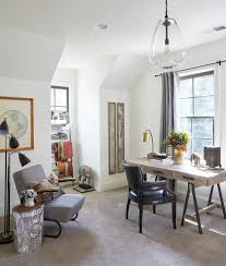 Eclectic home office Loveseat 16 Amazing Eclectic Home Office Designs You Wont Mind Working In Architecture Art Designs 16 Amazing Eclectic Home Office Designs You Wont Mind Working In