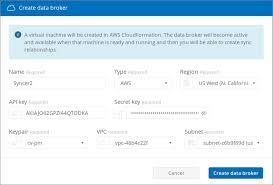 Data Broker Creating A Cloud Sync Data Broker Netapp Cloud Docs
