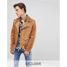 studded lapels 1207726 reclaimed vintage inspired real suede biker jacket main 100 real leather lining 100 polyester tan muaydqk