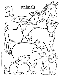 Alphabet Coloring Book Pages A Is For Animals Coloring Home
