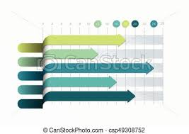 Flat Chart Graph Simply Color Editable Infographics Elements