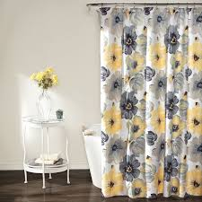 com lush decor leah shower curtain 72 inches x 72 inches yellow gray home kitchen