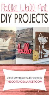 diy pallet wall art project tutorials